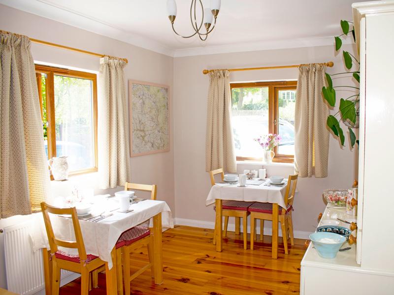 Innisfree Cottage B&B breakfast included in the breakfast room